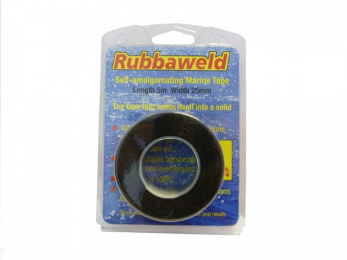 Black 5m X 25mm Rubbaweld Self Amalgamating Marine Tape